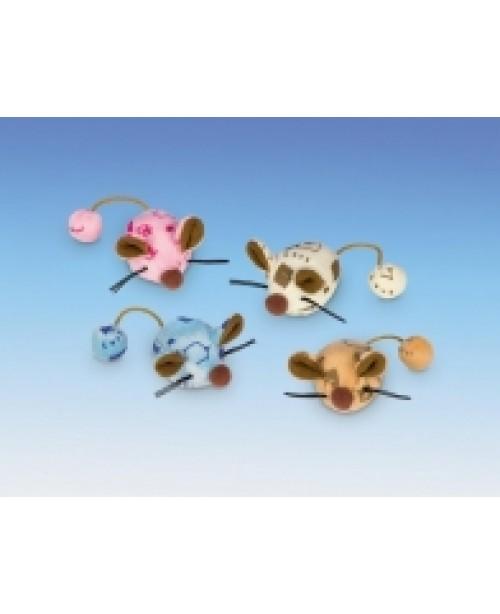 Мишка със звънче 2бр с привличаща билка - NOBBY Германия - 6 см